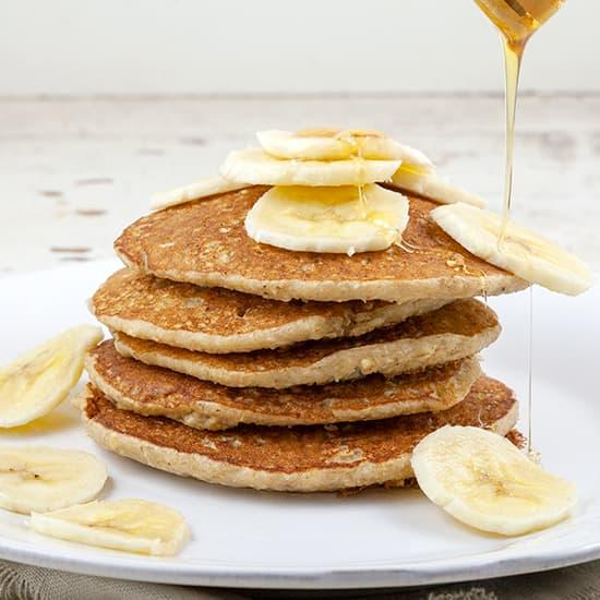 Havermout pannenkoeken met banaan
