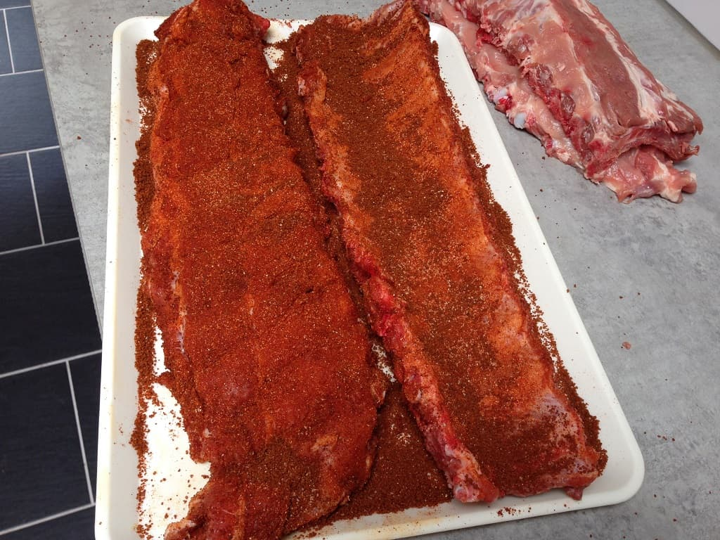 Spare ribs with dry rub - Spare ribs