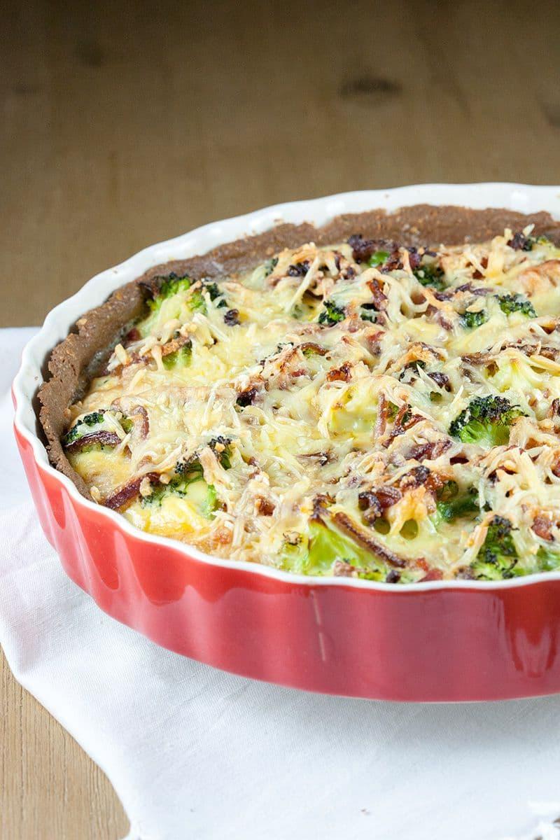 Broccoliquiche met spek 2 - Quiche met broccoli en spek