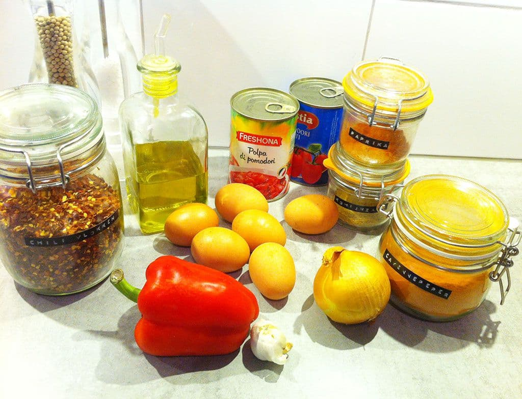 Shakshuka ingredienten