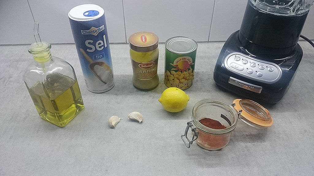 Hummus ingredienten