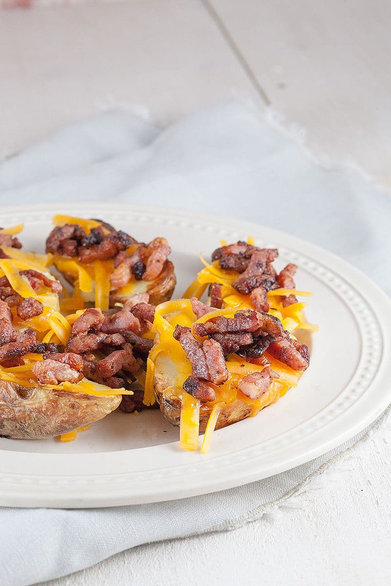 Potato skins met cheddar van de barbecue 2 - Potato skins met cheddar van de barbecue