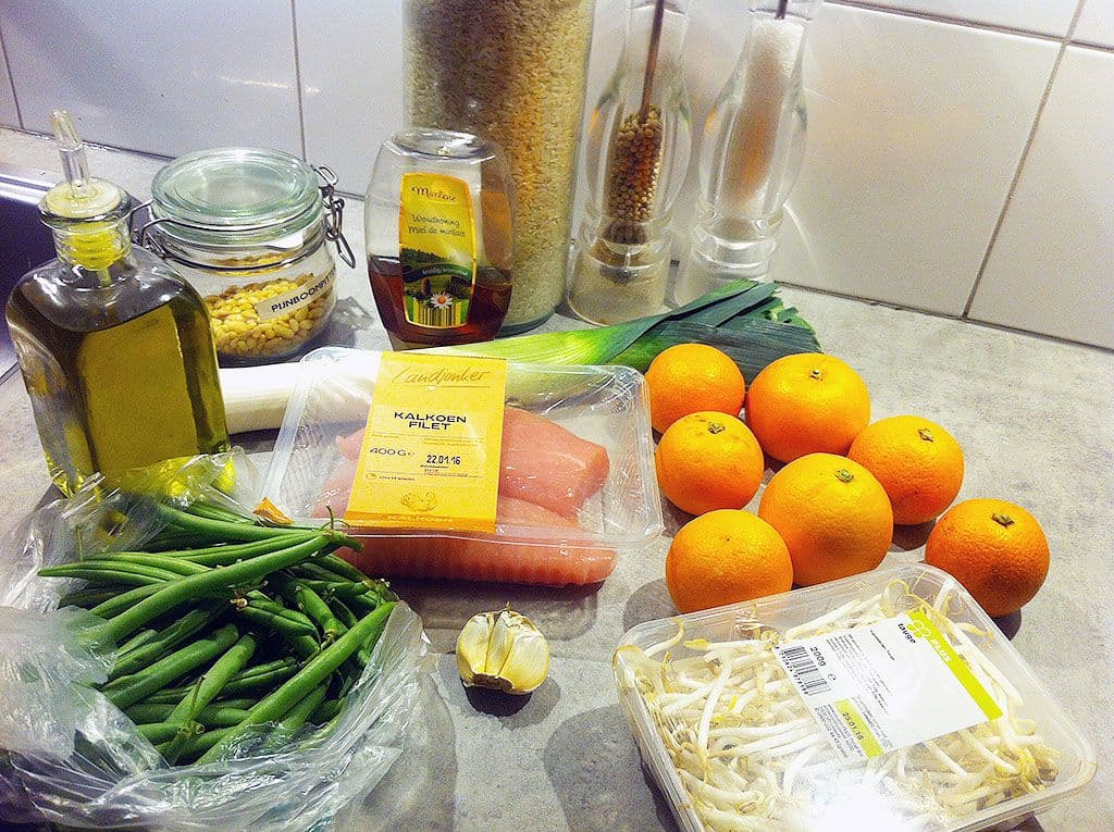 Gegrilde kalkoenfilet met bloedsinaasappel dressing ingredienten