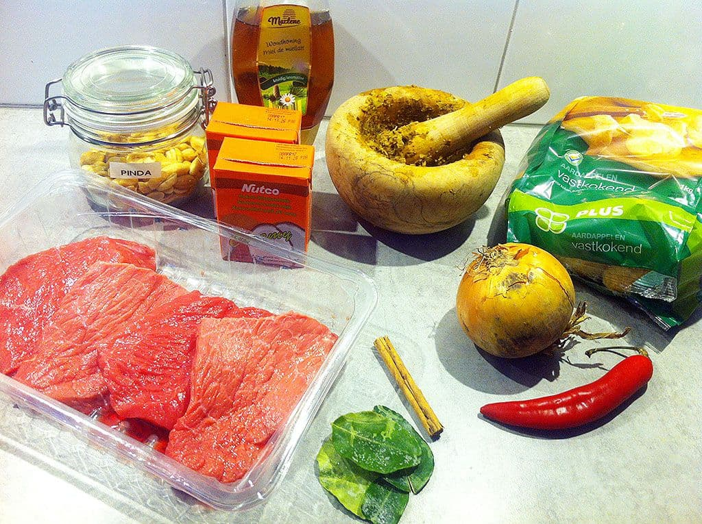Massaman curry ingredienten