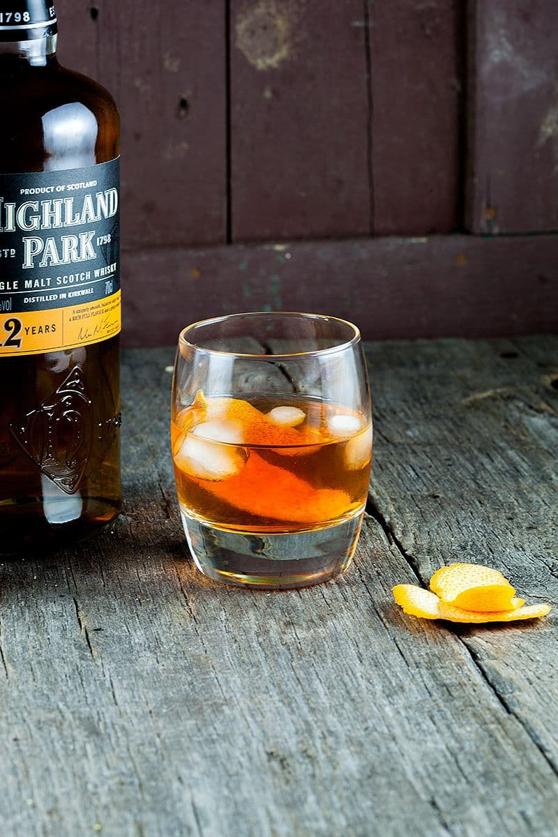 Ouderwetse whiskey cocktail