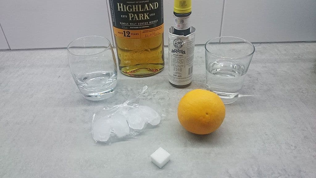 Ouderwetse whiskey cocktail ingredienten - Ouderwetse whiskey cocktail
