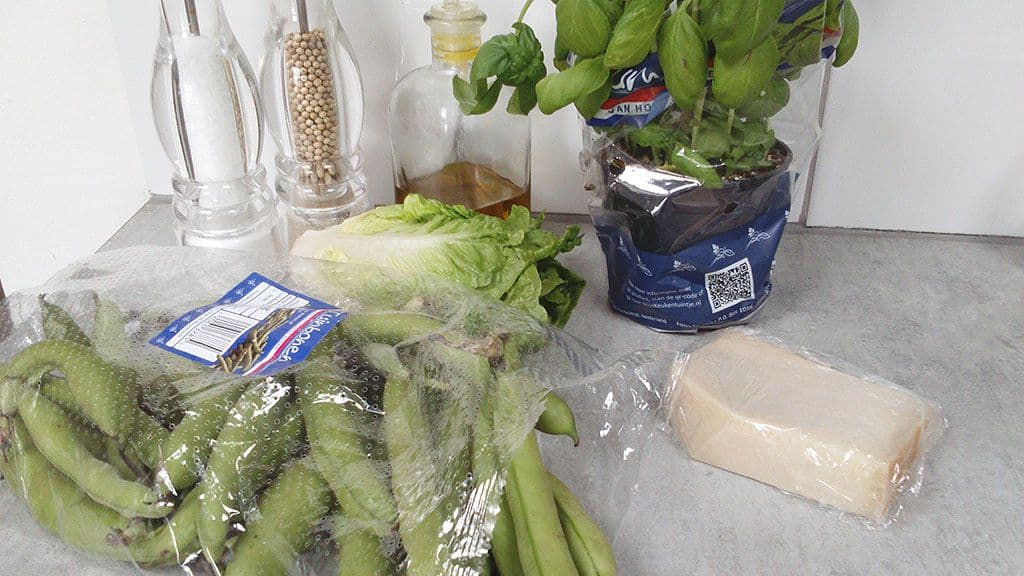 Tuinbonensalade ingredienten