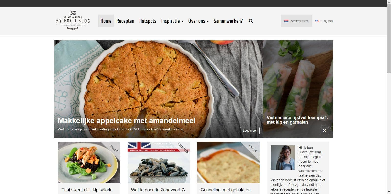 My food blog door Judith de Groot
