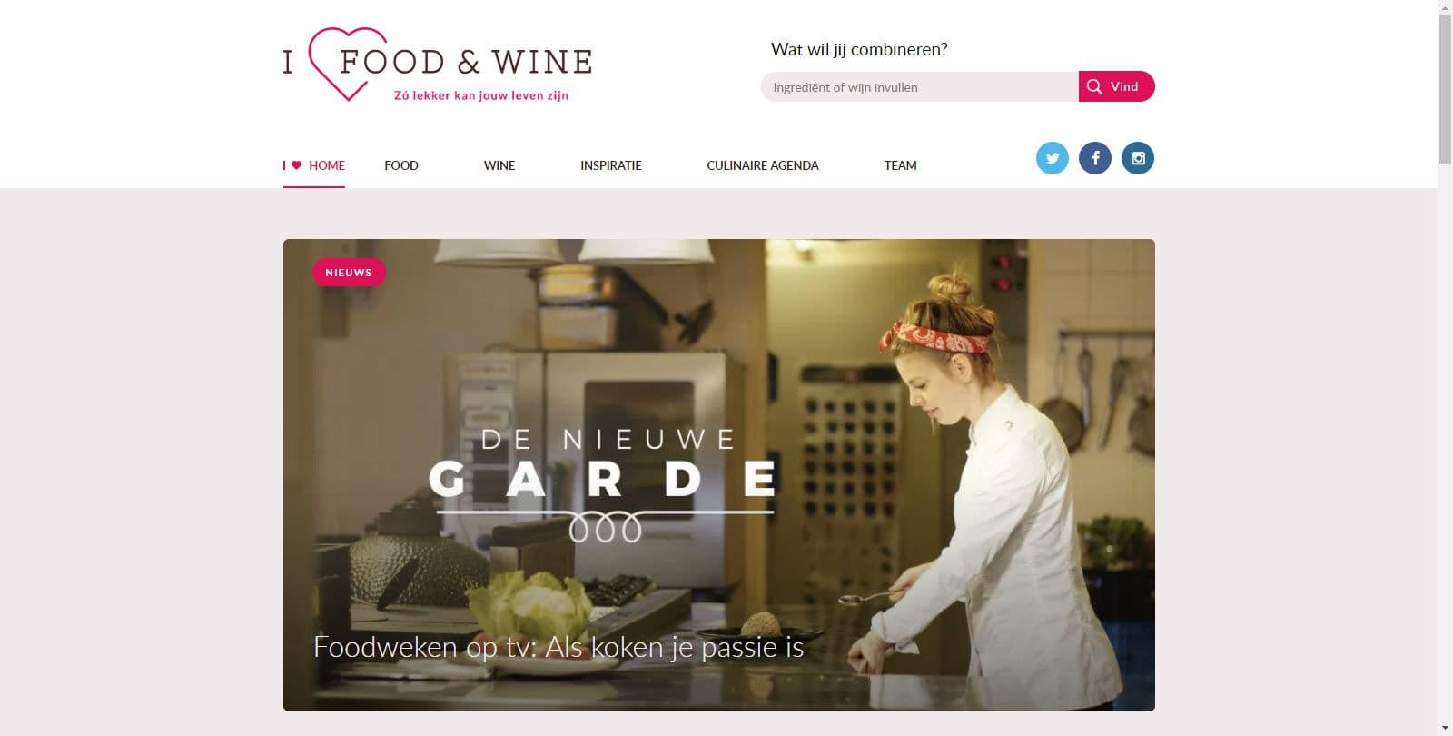 I love food & wine door Jolande Vos