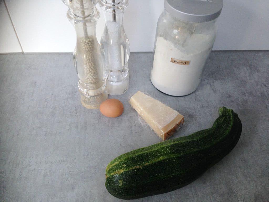 Courgettekoekjes ingrediënten