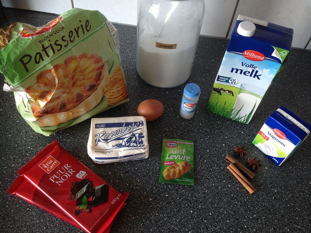 Chocolade beignets ingredienten