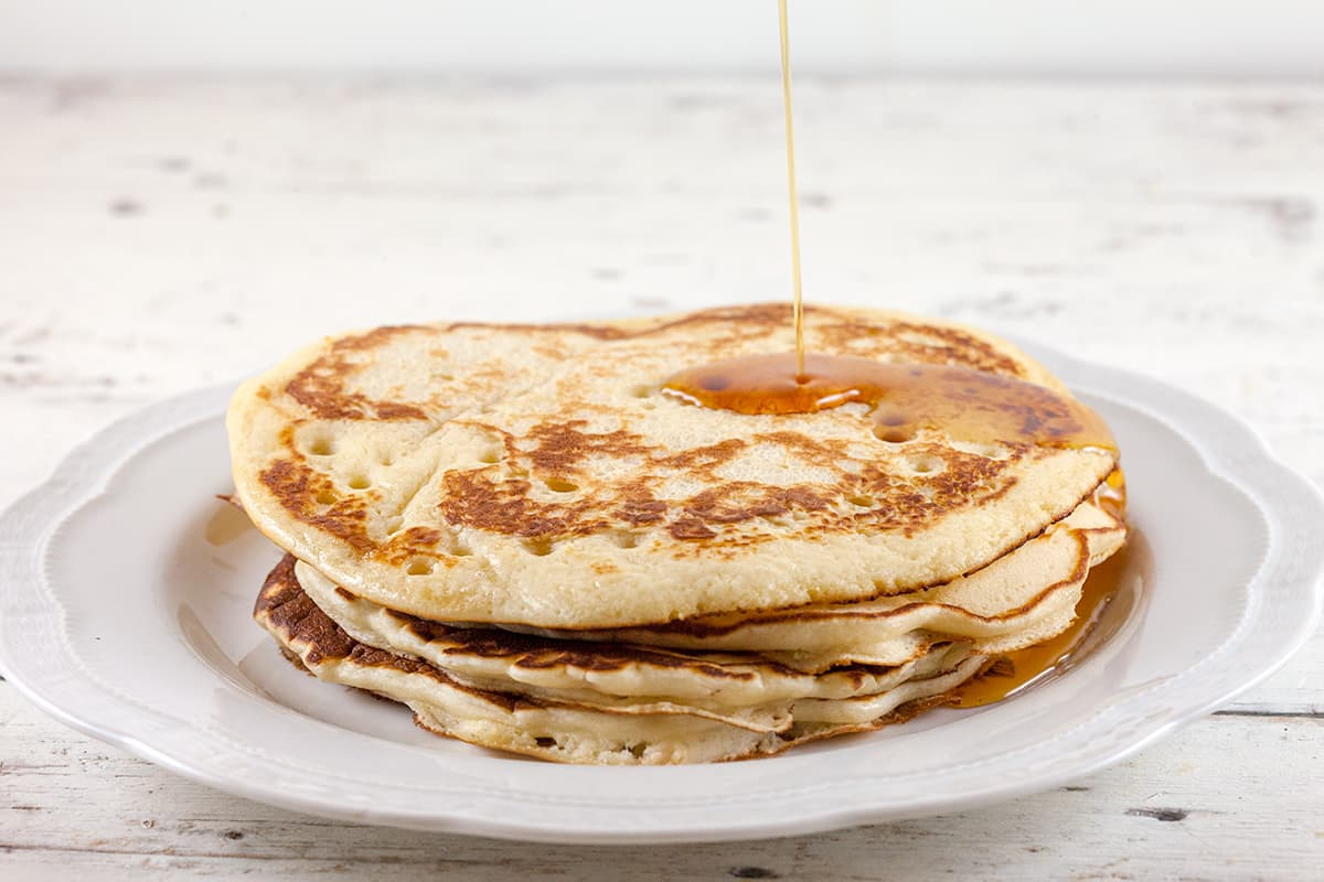 Amerikaanse maple pancakes