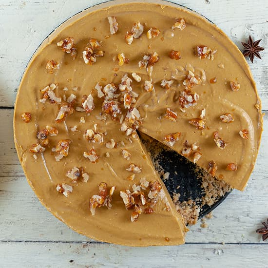 No-bake pompoen cheesecake