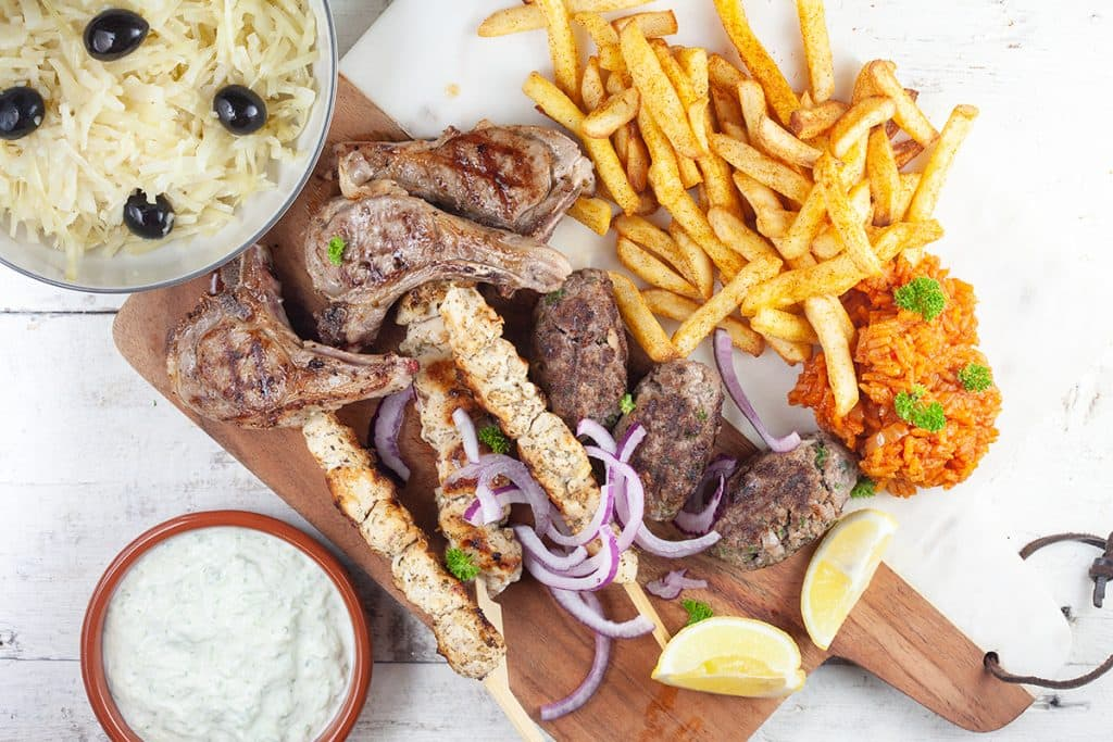 Griekse mixed grill